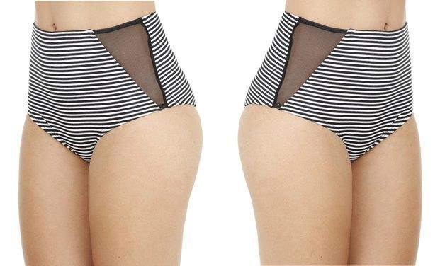 Biquini Calcinha Hot Pant Resort Listrado Branco 8140905 Branco 1 cea - Micro Hot pants pra arrasar!