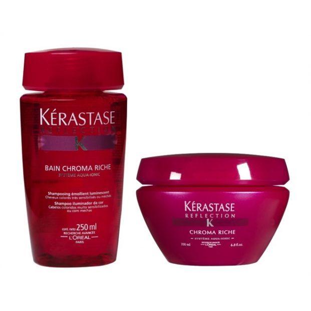 Kerastase Refl ction Duo Kit Shampoo Bain Chroma Riche 250ml e M scara Chroma Riche 200ml  621x621 - 4 produtos de cabelo para o verão passar numa boa