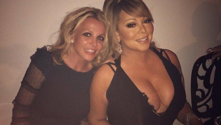 DKPdt8MXoAEENbS - Britney Spears e Mariah Carey postam foto juntas