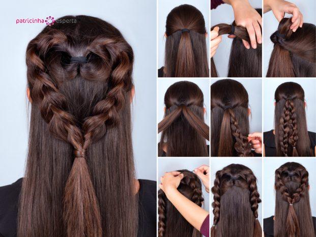 braid heart hairstyle tutorial picture id610756354 621x466 - Penteados Para Madrinhas De Casamento 2017