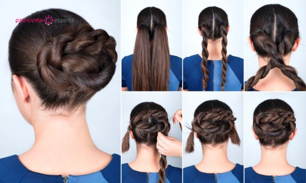 hairstyle twisted bun tutorial picture id621271054 621x371 - Penteados Para Madrinhas De Casamento 2017