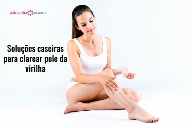pretty young woman applying body cream on legs picture id582283280 621x414 - Como Clarear A Virilha - Melhores Formas [novo]