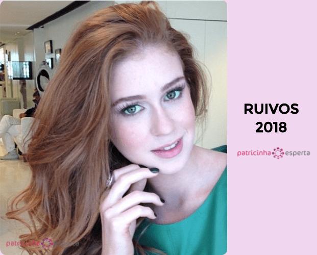 cabelo ruivo - Tendências em cores de cabelos 2018