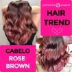cabelo rose brown - Cabelo Rose Brown: Rosa Castanho - Cabelos Inspirações