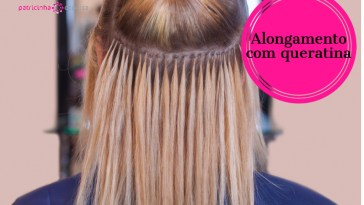 the hairdresser does hair extensions to a young girl a blonde in a picture id802291330 - Alongamento de cabelo: o guia completo