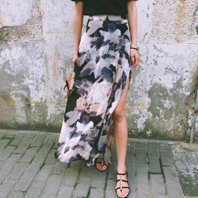 saia com fenda - Saias Do Verão 2019: Tendências, Looks Para Copiar