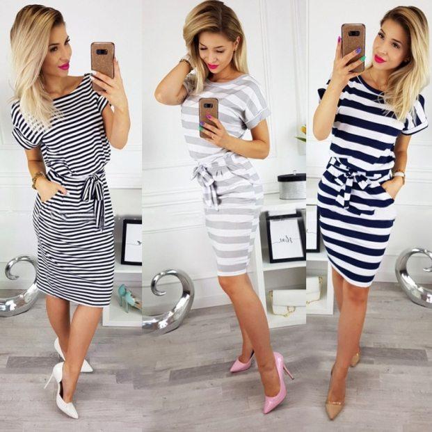 vestidos listras na horizontal 621x621 - Looks Com Listrados Verão 2019: Tendências, Looks Para Copiar