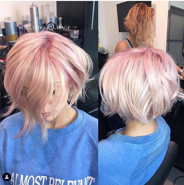 cabelo platinado 2 - Cabelo Platinado Curto 2019/2020: Tendências de Cortes, Cores, Fotos