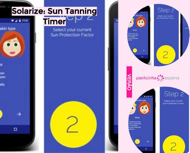 Solarize  Sun Tanning Timer - Apps Que Avisam a Hora Certa de Passar Filtro Solar