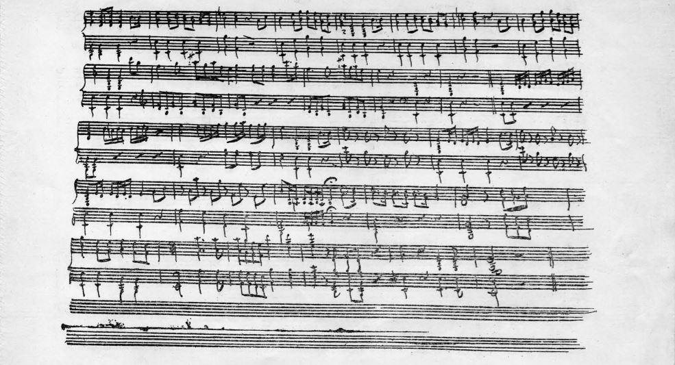 Segunda página del manuscrito del Himno Nacional Argentino, atribuido a Blas Parera.