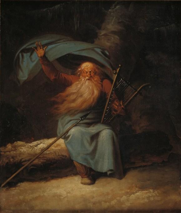 """""""Ossian cantando su canción de cisne"""", Nicolai Abildgaard, 1780-82"""