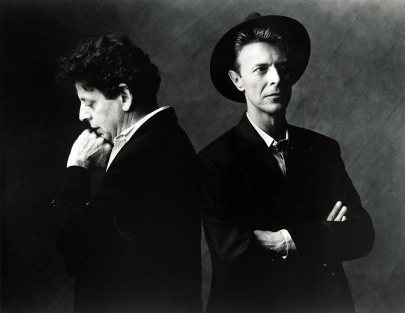 Philip Glass y David Bowie