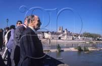 Le 09/05/1989 François Mitterrand à Orléans pour les fêtes Johanniques.