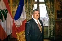 Le 19/10/1993 - Visite à Paris du premier ministre Libanais Rafiq Hariri. À l'hôtel de ville avec Jacques Chirac.