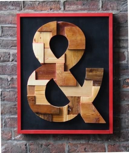 A big hand for a big &. . . please: wood wall art