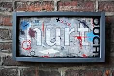 wars hurt - typographic wall art