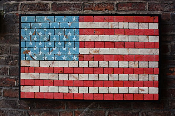 American flag - wood wall art