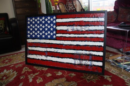 Old glory : hand painted American Flag