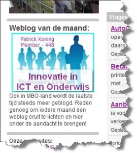 Weblog van de maand op saMBO-ICT