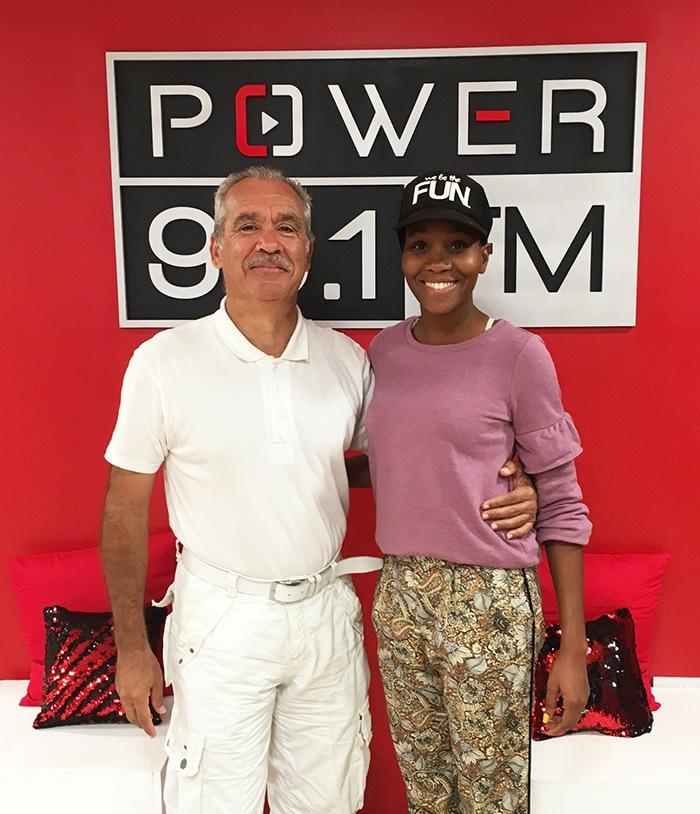 Avec CHRISLYN LASHINGTON à Power 95.1 FM