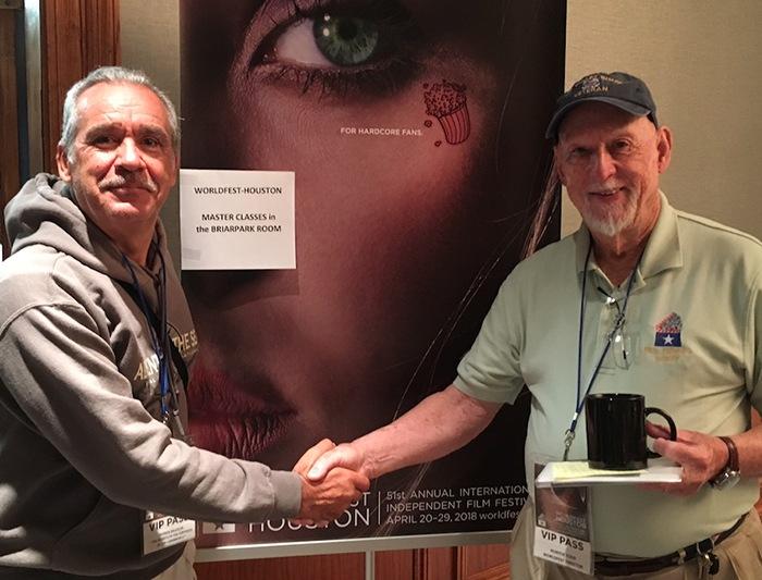 Avec Hunter Todd, Fondateur du Festival international du film de Houston (Texas)