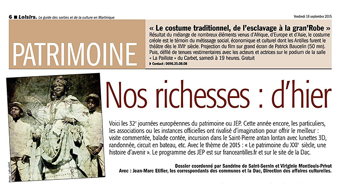 Article du guide des sorties et de la culture en Martinique