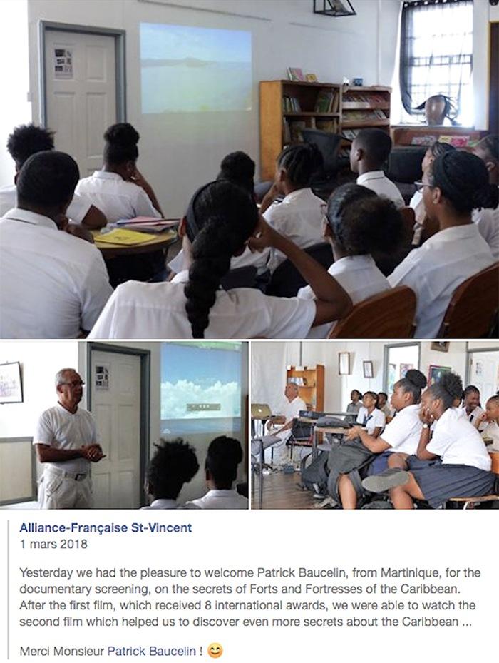 projection avec des scolaires à l'Alliance Française