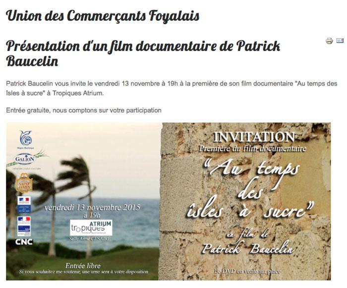 Invitation à la projection du film