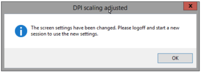 Set DPI Scaling - Message