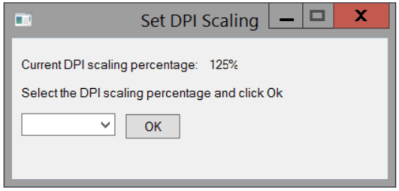 Set DPI Scaling - Enlarged