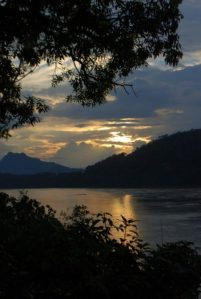 Luang Prabang, Sunset on the Mekong river