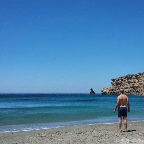 On the beach of Triopetra, Crete