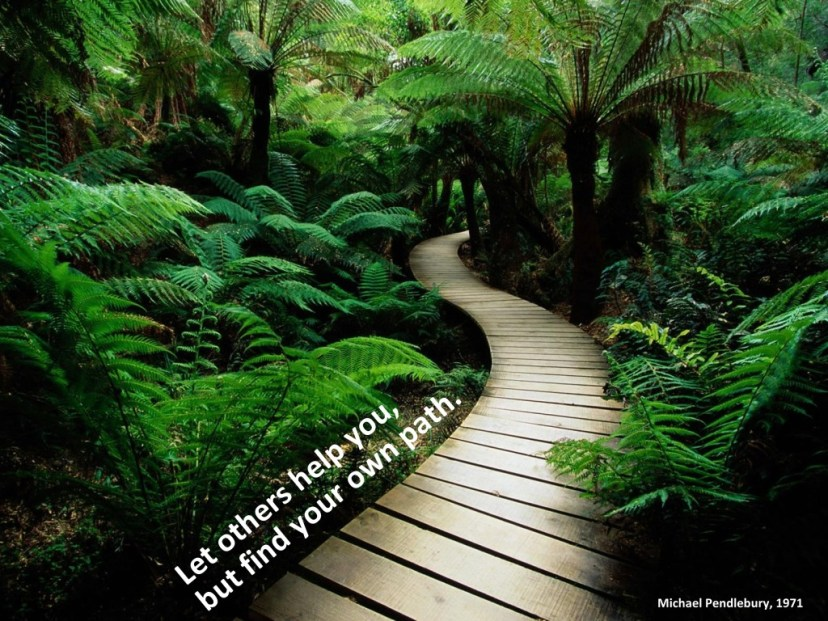 Let others help you but find your own path.