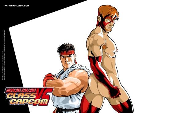 Ryu VS Naked Justice - 1680 X 1050