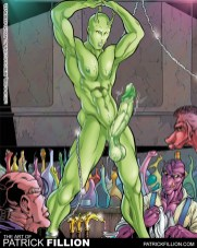 Locus is forced to strip and dance in Slavaa's club in Rapture #1.