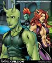 Locus as he appears with Felicia and Slith in Felinoids #3.