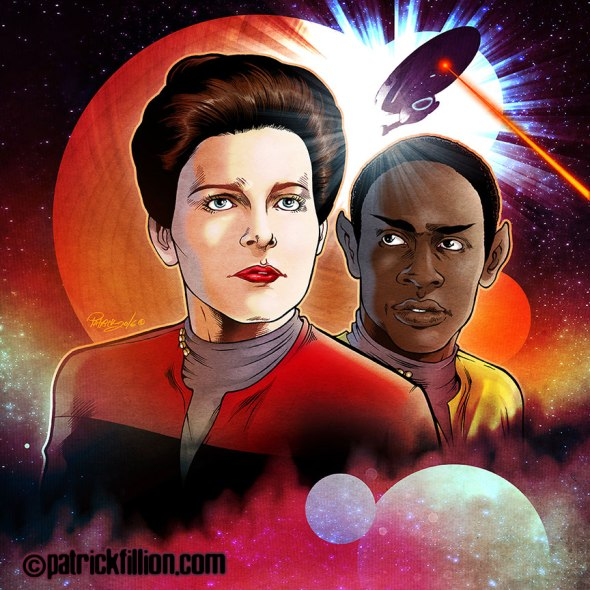 Star Trek VOYAGER anniversary Fan Art by Patrick Fillion.