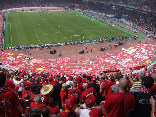 Liverpool Fans in Athens, May 2007, from feltonf on Flickr