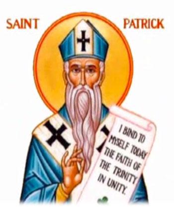 Image result for saint patrick blue