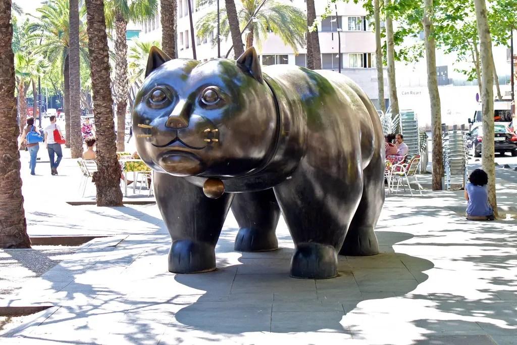 Cat sculpture Rambla de Raval