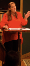 Melody Brooks as the moderator