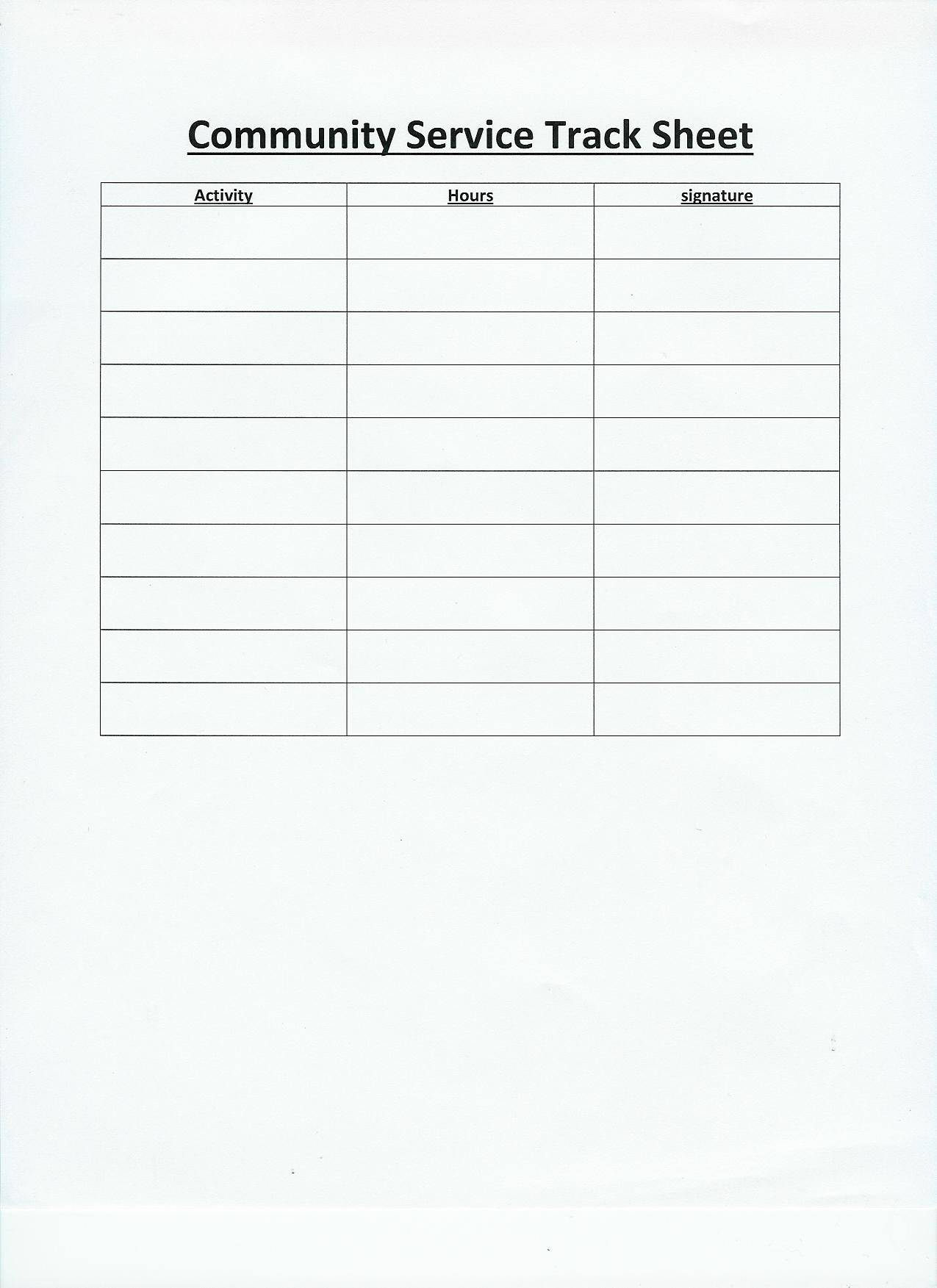 Community Service Hours Worksheet Free Worksheets Library