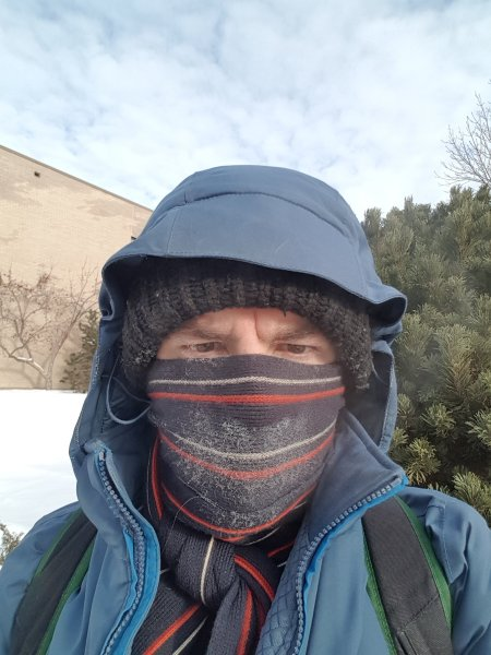 My cold-weather gear when it's -25 or -30 C