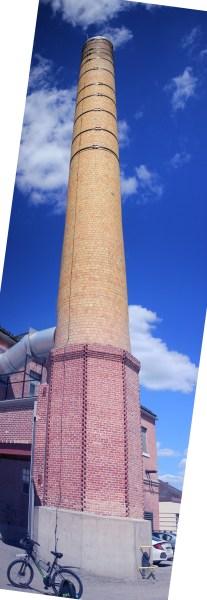 A very tall chimney