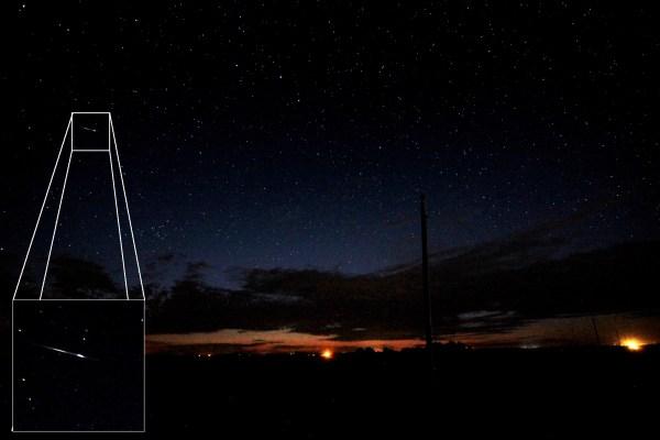 Shooting star, Aug. 11, 2020