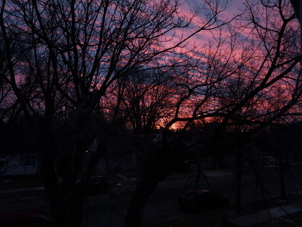 Sunrise from my upstairs window