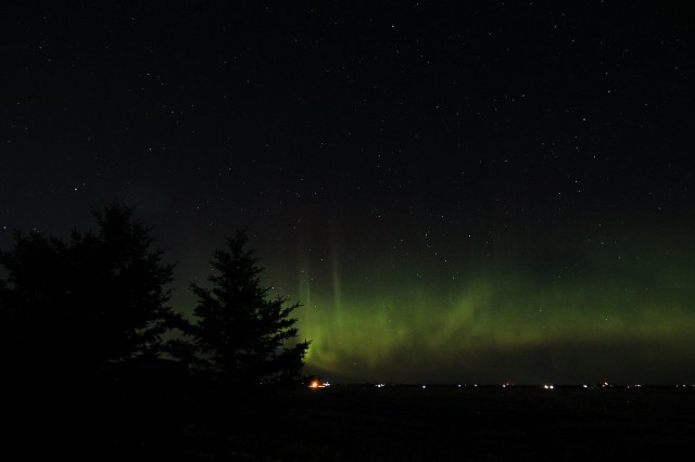 Aurora borealis, April 19th, 2021