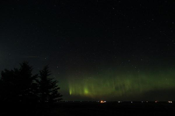 Aurora borealis, April 19th, 2021