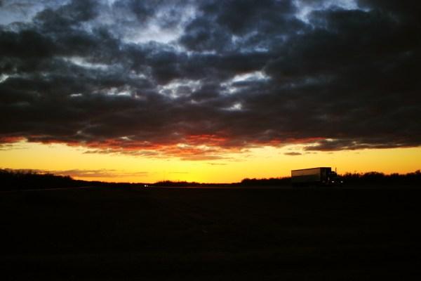Sunset near Virden, MB