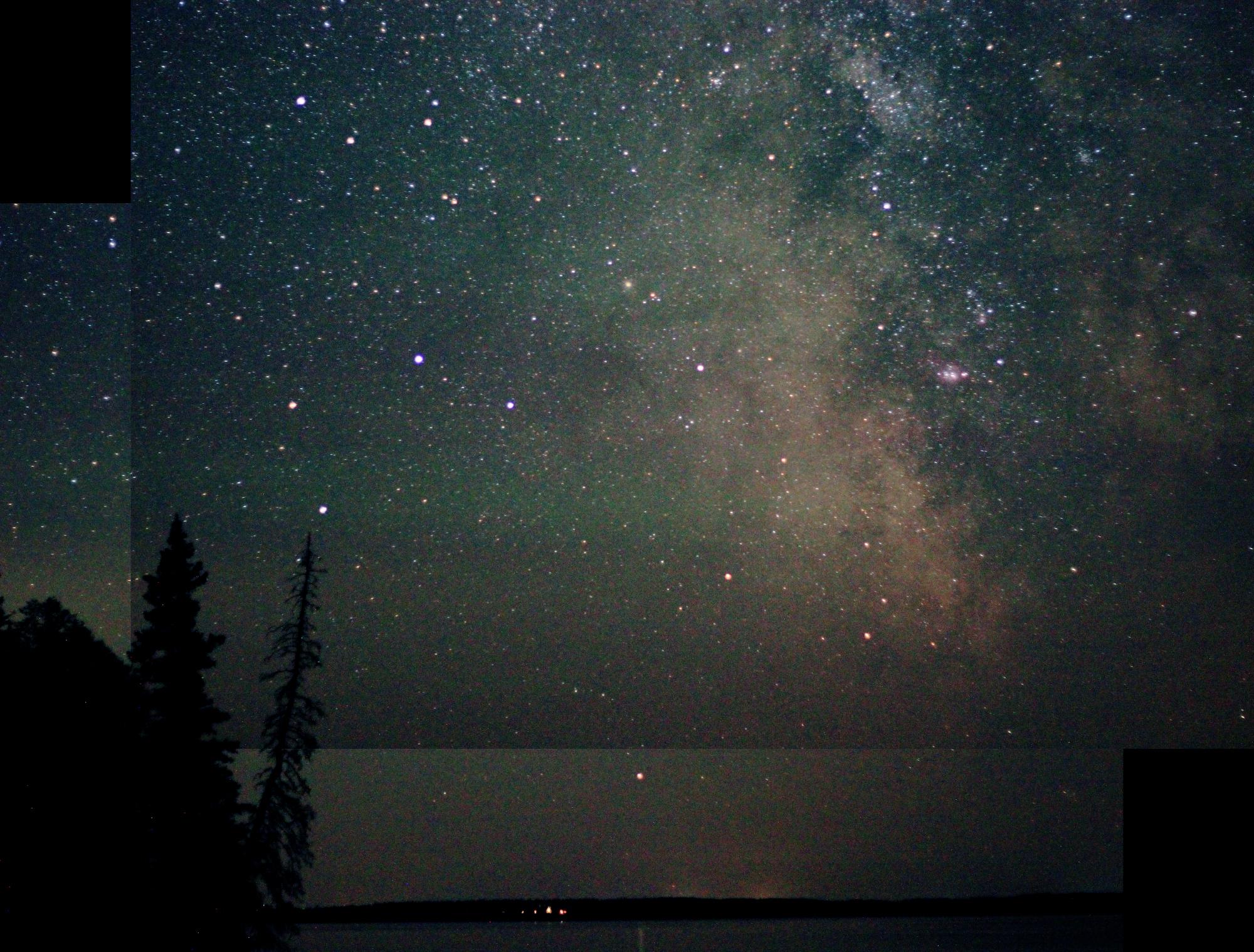 2-shot composite of the Milky Way